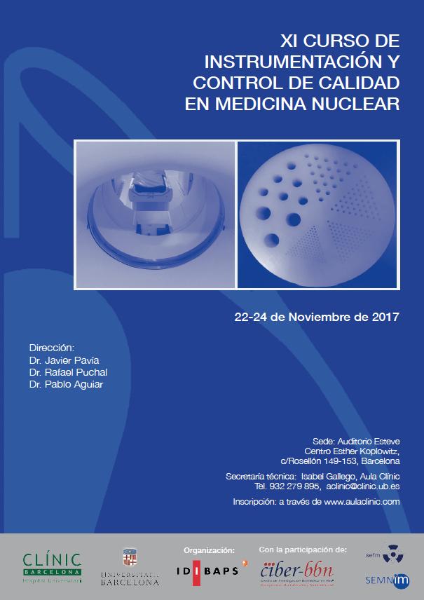 XI CURSO DE INSTRUMENTACIÓN Y CONTROL DE CALIDAD EN MEDICINA NUCLEAR